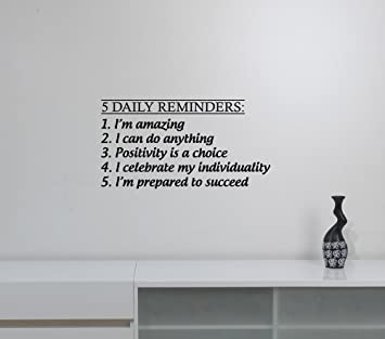 Daily Reminders Wall Decal Positive Inspirational Quotes Sticker