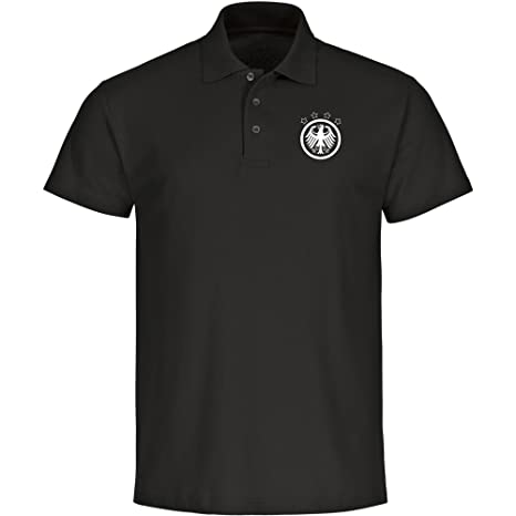 Multi Fan Shop Polo Alemania Águila Camiseta Hombre Negro Retro (Tallas S – 5 x l