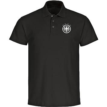 Multi Fan Shop Polo Alemania Águila Camiseta Hombre Negro Retro (Tallas S - 5 x l - Fútbol Campeones del Mundo Alemania Copa del Mundo 2018 Rusia: ...