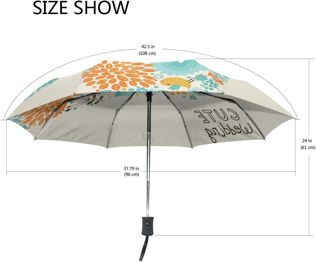 DOENR Compact Travel Umbrella Cat Wedding Sun and Rain Auto Open Close Umbrellas Lightweight Portable Outdoor Folding Umbrella