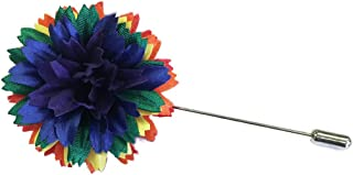 product image for M&S Schmalberg Made in USA Rainbow Pride Silk Flower Lapel Boutonniere Pin for Men