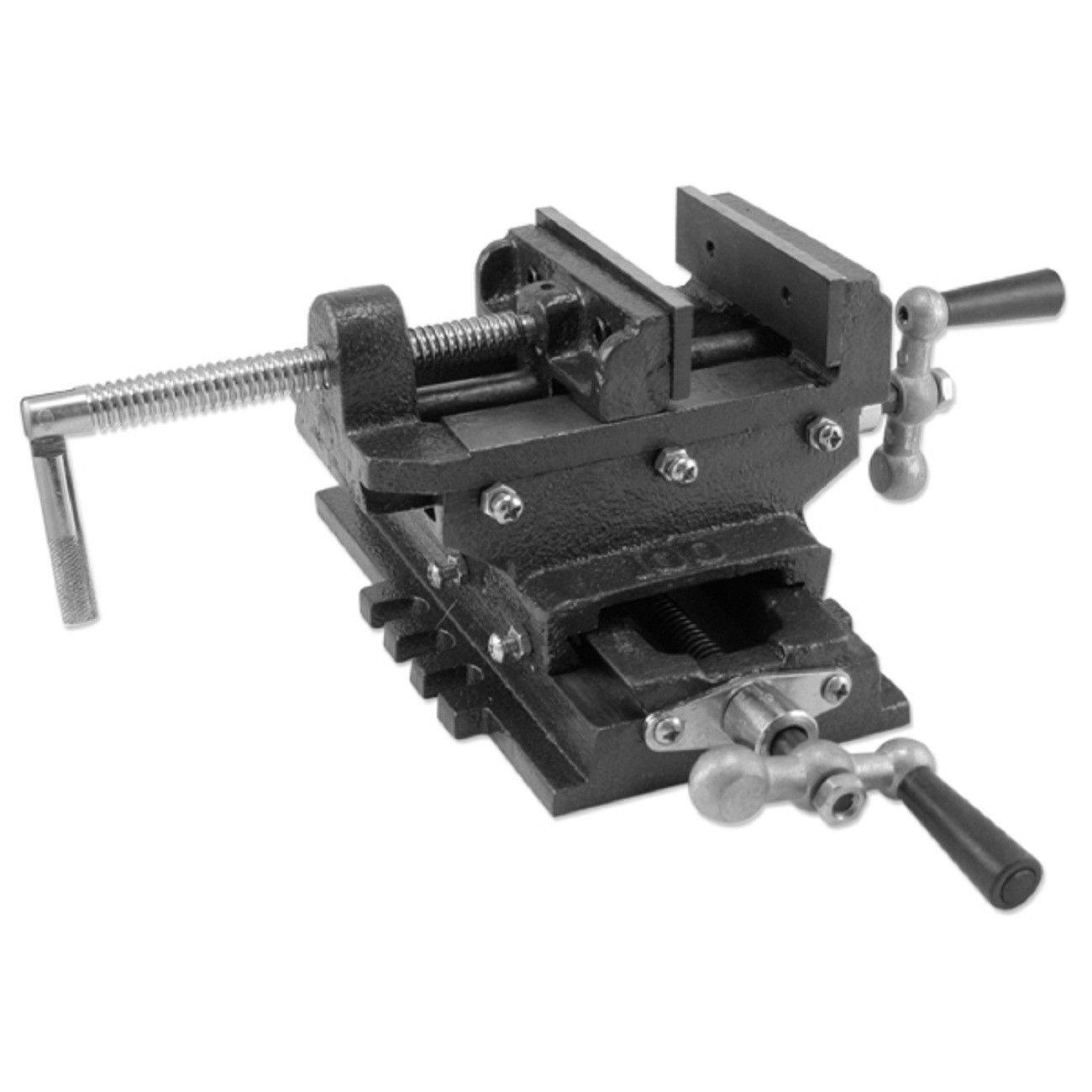 Moon Daughter Heavy Duty Drill Vise Press 4'' Cross Slide Metal Milling 2 Way X-Y Clamp Machine