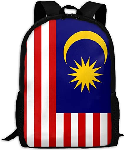 Amazon Com Flag Of Malaysia Fashion Backpack School Travel Shoulder Bag For Unisex Sports Outdoors