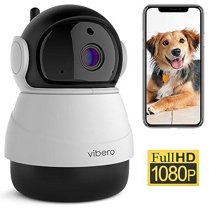 Vibero - Cámara WiFi 1080P IP para mascotas, monitor de bebé con ...