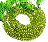 Full 13 Inch X 5 Strand Super Fine Quality PERIDOT micro FACETED 5.50-7 mm Approx rondelle Briolette.