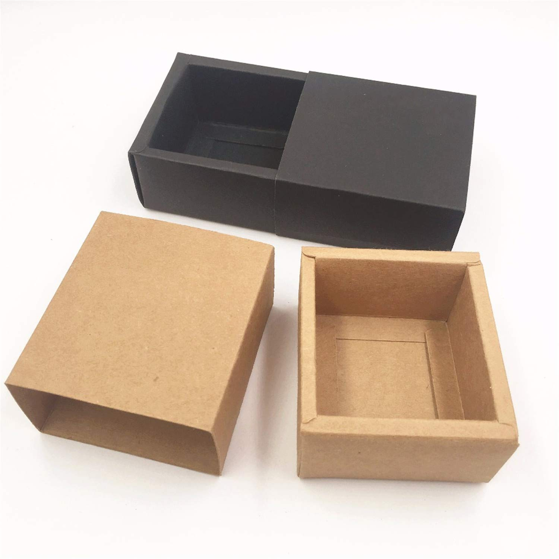 Amazon Com 50pcs Kraft Paper Drawer Boxes Diy Blank Gift