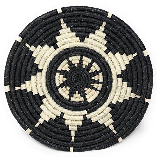 All Across Africa Handwoven Hope Trivet, Black/White