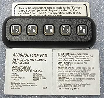 Ford Oem Factory Stock Genuine 2009 2010 2011 2012 2013 2014 F 150 F150 Keyless Entry Keypad Pad Anti Theft Actuator Remote Door