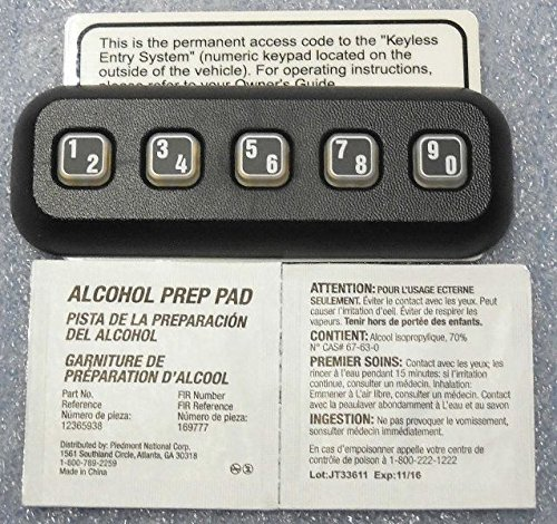 Oem Factory Stock Genuine 2009 2010 2011 2012 2013 2014 Ford F-150 F150 Keyless Entry Keypad Pad Anti Theft Actuator Remote Door