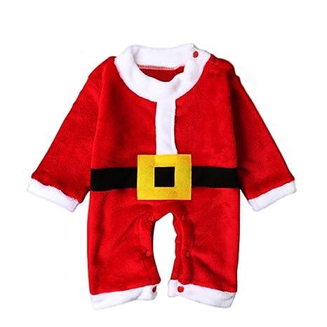 jianfeng 3 piezas/set navidad Disfraz bebé Pelele de Kid Papá Noel sombrero bigote Cosplay