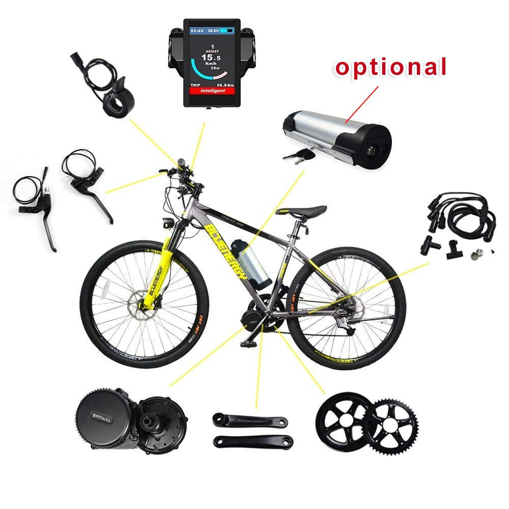 BAFANG BBS01B 36V 250W Ebike Motor with LCD Display 8fun Mid Drive Electric  Bike Conversion Kit with Battery and Charger
