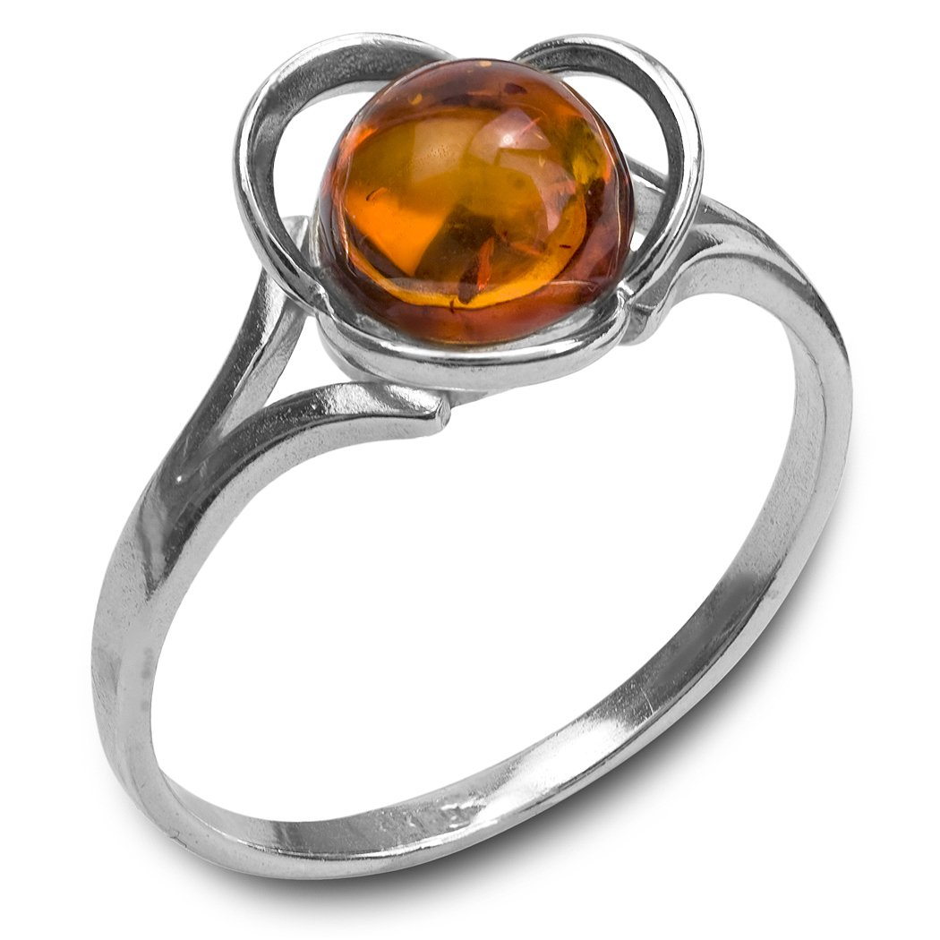 Ian and Valeri Co Amber Sterling Silver Round Ring