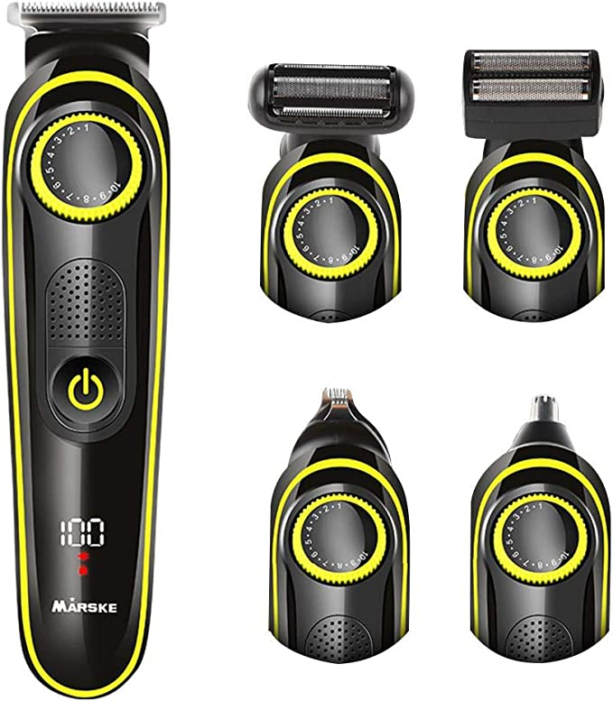 Afeitadora eléctrica para hombre, 5 en 1, USB, recargable, para el ...