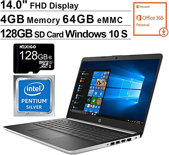 2020 Newest HP 14 Inch FHD 1080P Laptop for Business Student