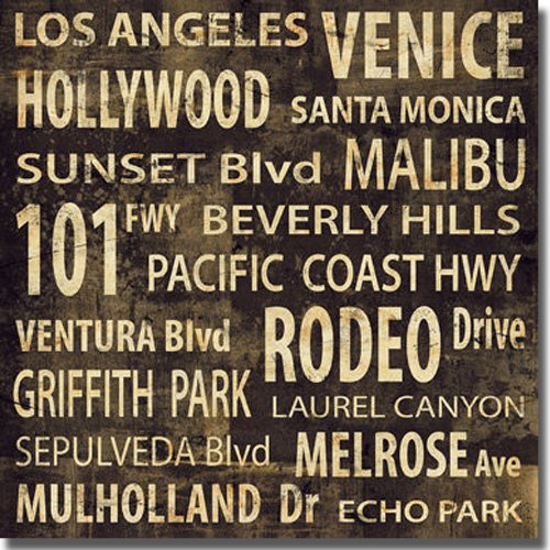 L.A. by Luke Wilson Premium Stretched Canvas (Ready to Hang)