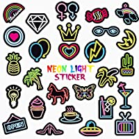 QWDDECO Neno Sticker Pack [100 pcs] Vinyl Stickers for Laptop,Skateboard,Bike,Luggage,PS4,Xbos one,iPhone-Party Favors for Adults,Teens,Boys and Girls-Graffiti Decal-Waterproof