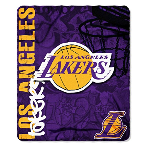 "The Northwest Company Officially Licensed NBA Los Angeles Lakers Hard Knocks Printed Fleece Throw Blanket, 50"" x 60"""