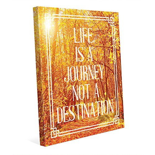 Life is a Journey, Not a Destination Positive Motivational Uplifting Quote Saying on Fall Autumn