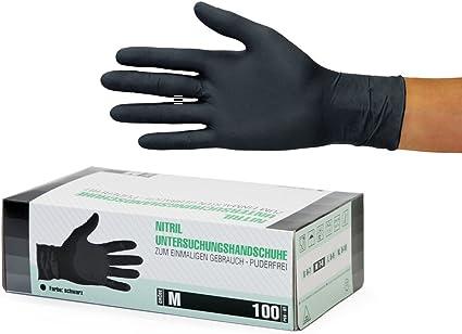 Nitrilo Guantes de Examen guante guantes sin polvo de calidad alimentaria l/átex libre de la caja del 100,M