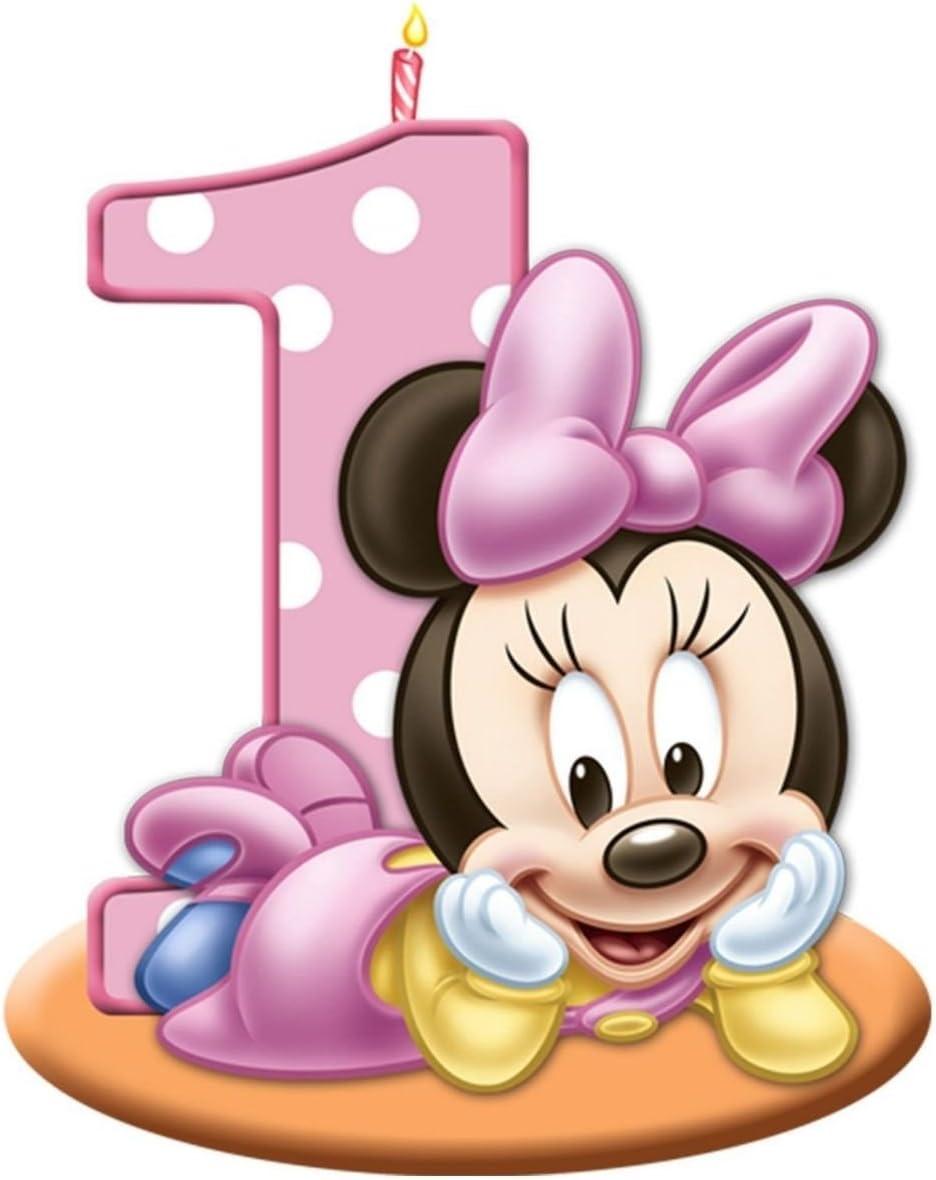 Peachy Amazon Com Sdore Baby Minnie Mouse Birthday Party Edible 1 4 Funny Birthday Cards Online Unhofree Goldxyz