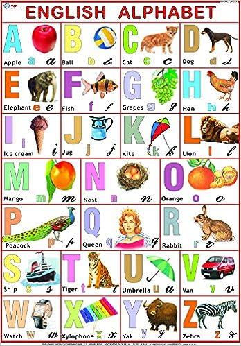 Buy English Alphabet Chart for Kids (70 x 100 cm) Book