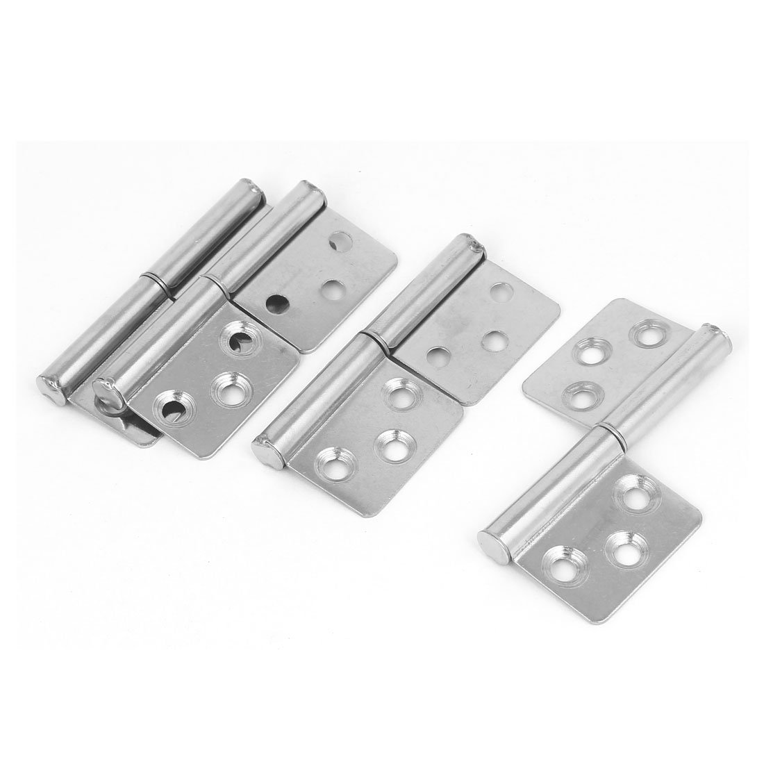 uxcell 3-inch Long Stainless Steel Two Leaves Detachable Flag Hinge 4pcs for Window Door