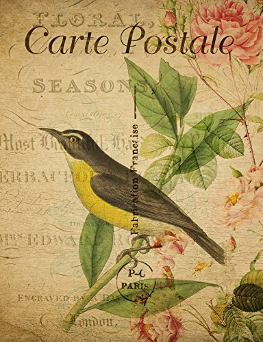 Laminated Poster Vintage French Bird Postcard Nature Print