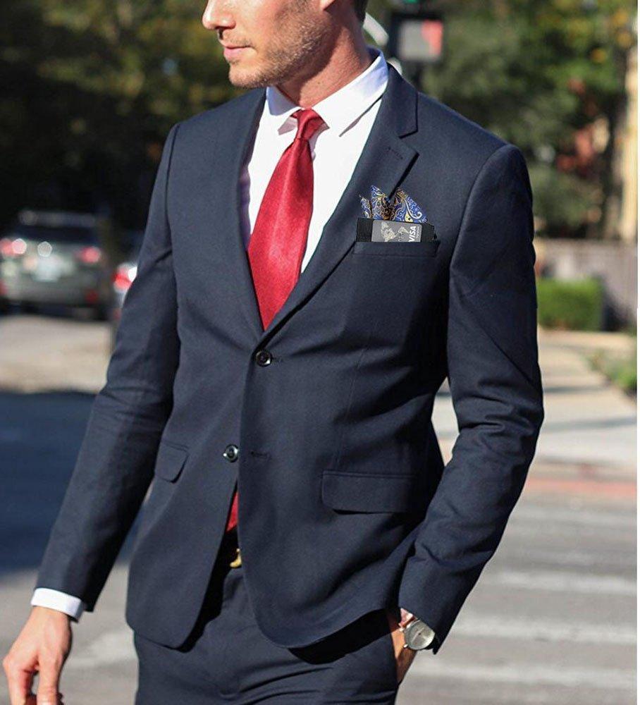 ALLENLIFE Pocket Square Card Holder, Men's Suit Handkerchief Keeper for Man's Suits (4 Pack) by ALLENLIFE (Image #4)