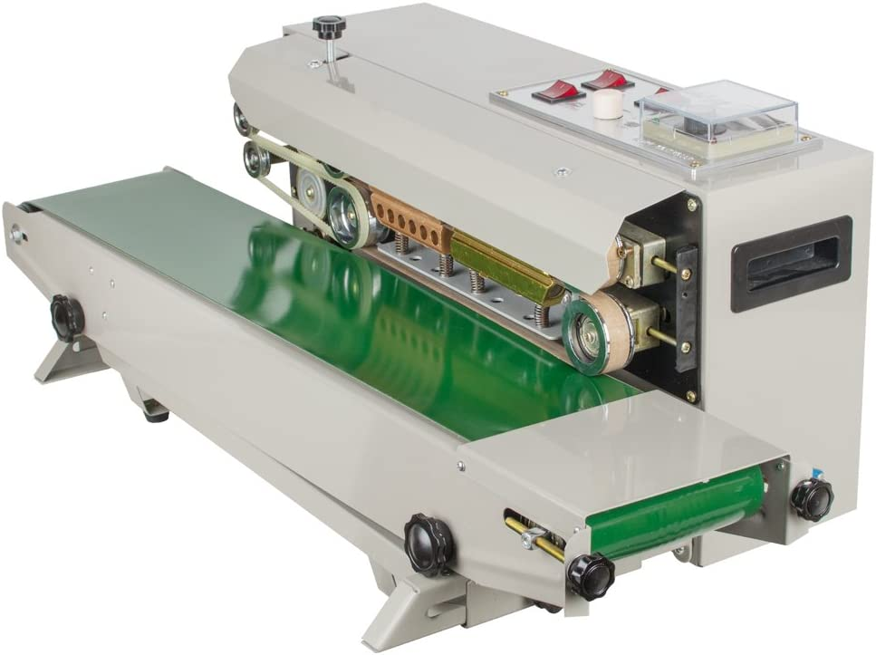 Vacuum Sealer Machine,Automatic Horizontal Continuous Plastic Bag Band Sealing Sealer Machine for The Seal of Plastic Bag, Aluminum Foil Bag & Compound Bag