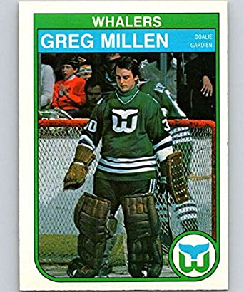 e3a147123 1982-83 O-Pee-Chee Hockey  126 Greg Millen Hartford Whalers Official