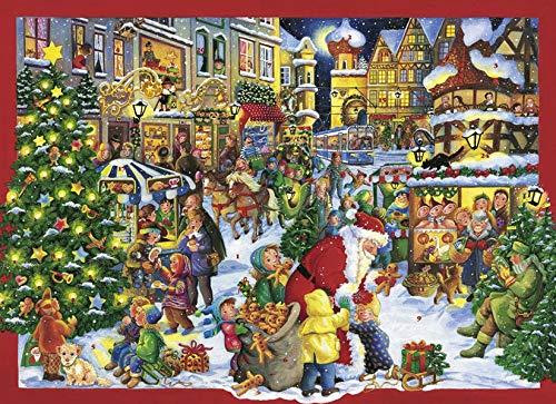 Auf dem Weihnachtsmarkt: Maxi-Adventskalender