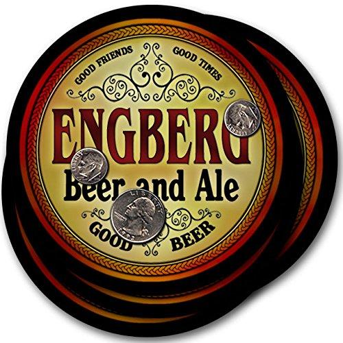 Engbergビール& Ale – 4パックドリンクコースター   B003QXAZYY