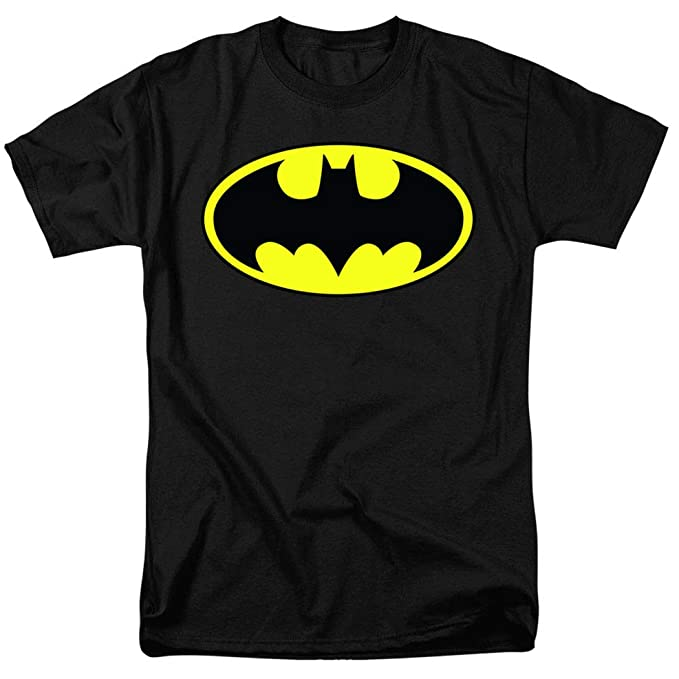 c083bc88 Amazon.com: Batman Classic Logo T Shirt & Stickers: Clothing