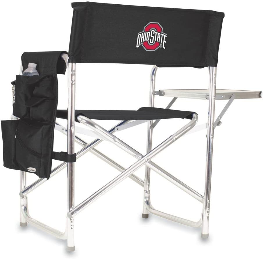 Black Sports Chair, ONIVA a Picnic Time brand Ohio State Buckeyes