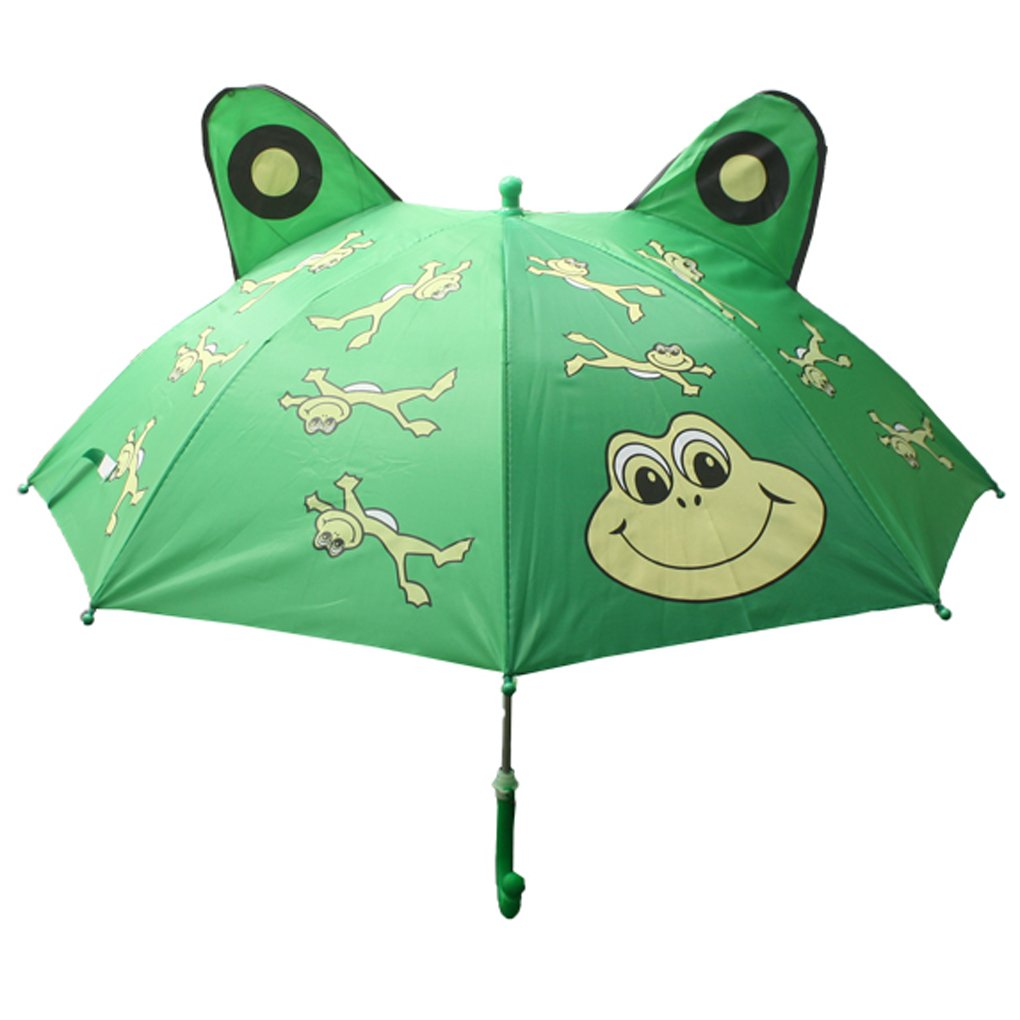Fashionista Kids Animal Umbrella Sun Rain Protection Windproof (Leaping Frog) by Fashionista Kids (Image #1)