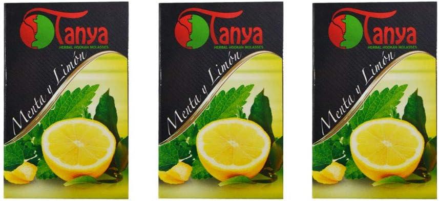150 gr de hierbas Tanya limón con menta Melaza natural sin nicotina Shisha de la cachimba pipa Narguile