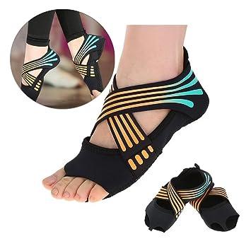 Tbest Calcetines de Yoga Antideslizantes para Mujeres, Calcetines de Yoga Pilates Calcetines de Agarre de