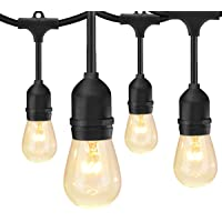 SUNTHIN 48FT Outdoor String Lights with 11W Dimmable Edison Bulbs for Decorative Backyard, Patio, Bistro, Pergola…