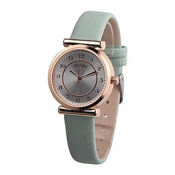 Reloj de pulsera de cuarzo para mujer, KanLin1986 Reloj de pulsera retro para mujer de