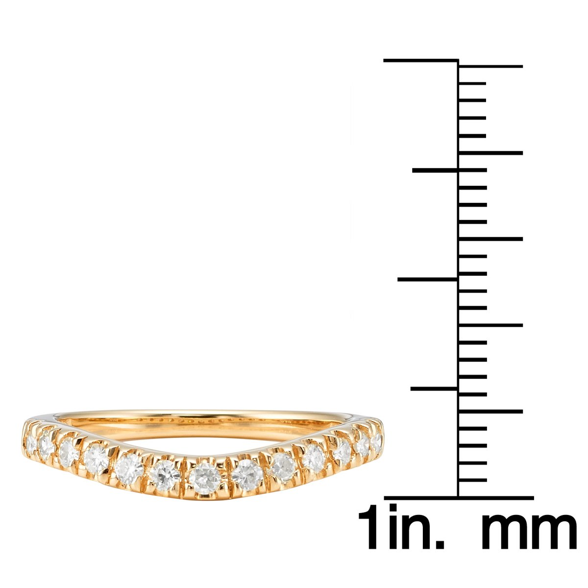 Forever Classic Yellow Gold 1.8mm Moissanite Wedding Band - size 6, 0.33cttw DEW By Charles & Colvard by Charles & Colvard (Image #5)