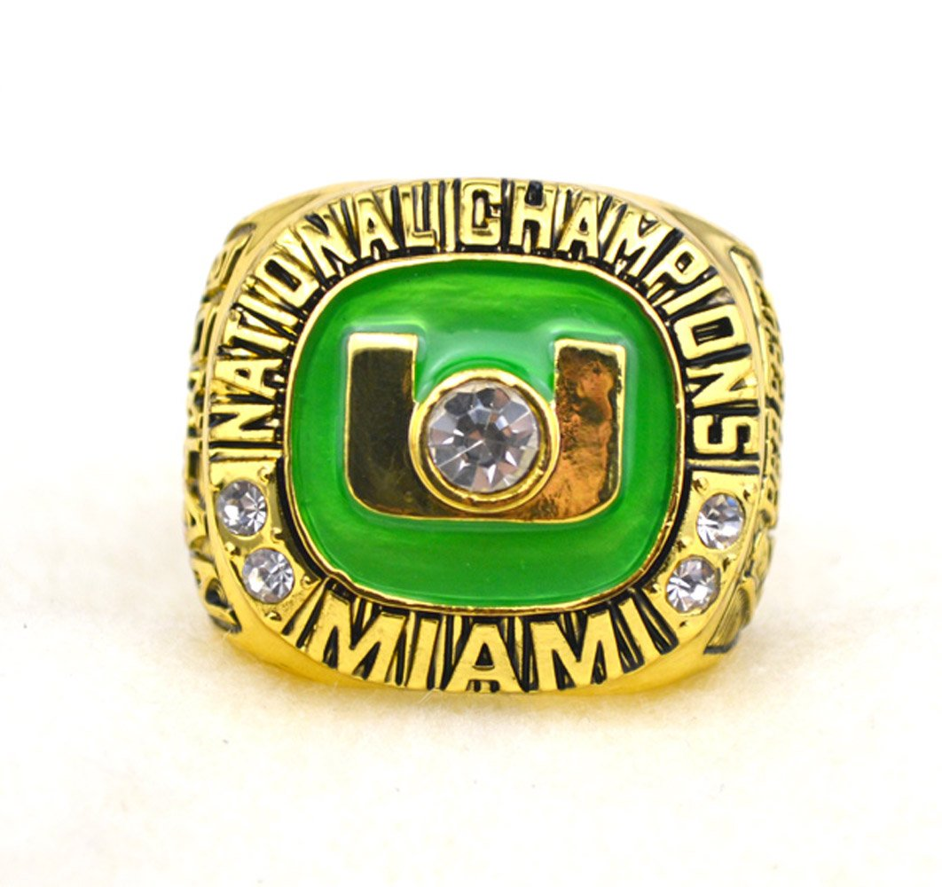 for YIYICOOL fans' collection 2002 Miami Hurricanes football championship rings 11.5