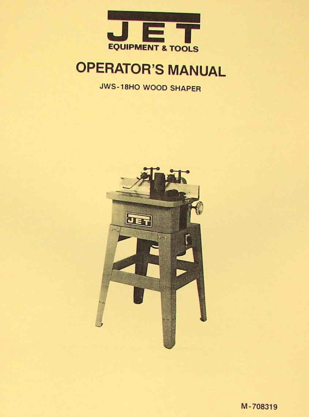 jet asian jws 18ho wood shaper operator\u0027s \u0026 parts manual  jet shaper wiring diagram wiring diagram