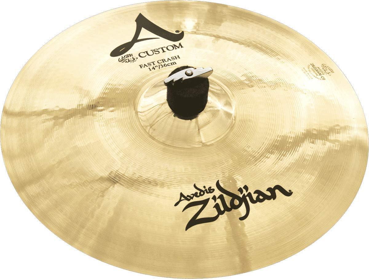 """B0002D08C0 Zildjian A Custom 14"""" Fast Crash Cymbal 61N2BM3l0bmL"""