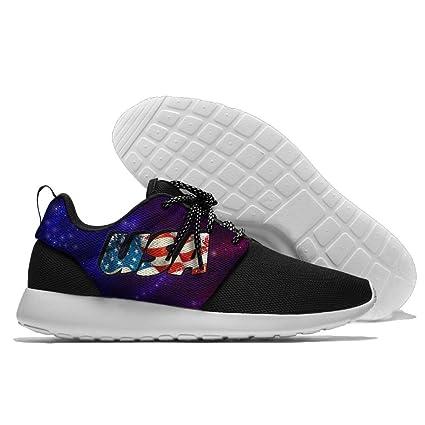 a33f4be486f752 Amazon.com: USA American Flag Men's Running Shoes Mesh Soft ...