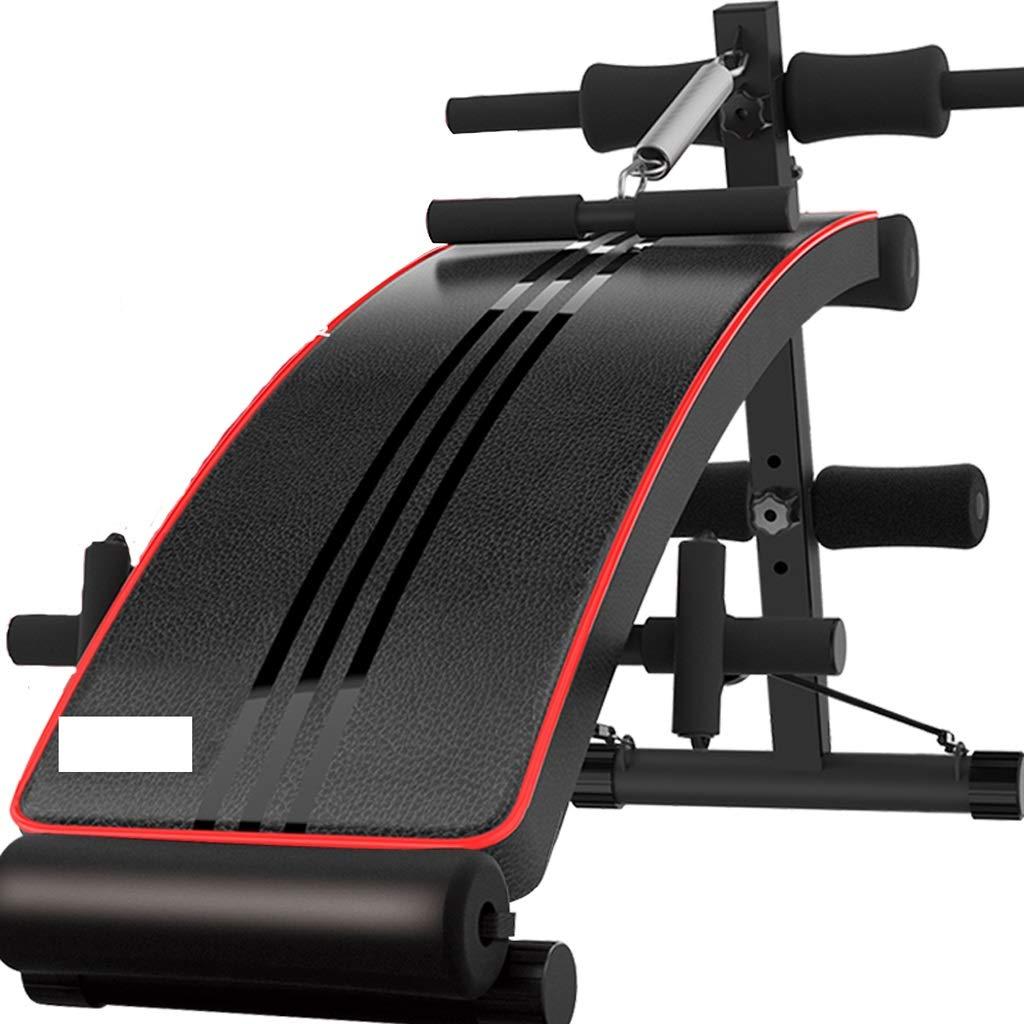 シットアップABベンチ傾斜傾き調節可能なワークアウトシットアップベンチ、フルボディワークアウトのためのブラックウェイトベンチ、ジムは、スポーツフィットネスのためのパッドのエクササイズデバイスを座って (版 ばん : Leather) Leather  B07JL22MWJ