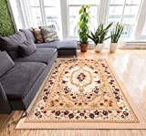 Well Woven Floral All Over French Aubusson Style Value Ivory Area Rug 5x7 (5' x 7'2'') European perfect for Living Room Dining Room Soft Easy Care Carpet