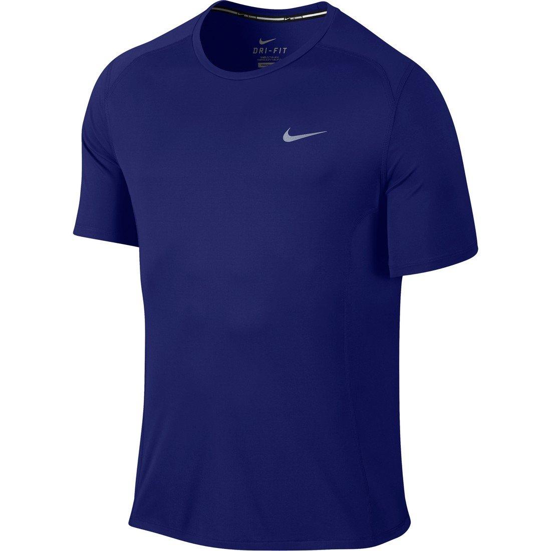 Nike Herren Dry Miler T-Shirt  L|Deep Royal Blue/Reflective Silver