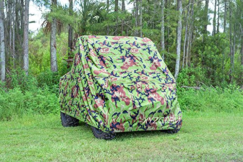 XYZCTEM UTV Cover with Heavy Duty Oxford Waterproof Material, 114.17'' x 59.06'' x 74.80'' (290 150 190cm) Included Storage Bag. Protects UTV From Rain, Hail, Dust, Snow, Sleet, and Sun (Camo) by XYZCTEM (Image #1)