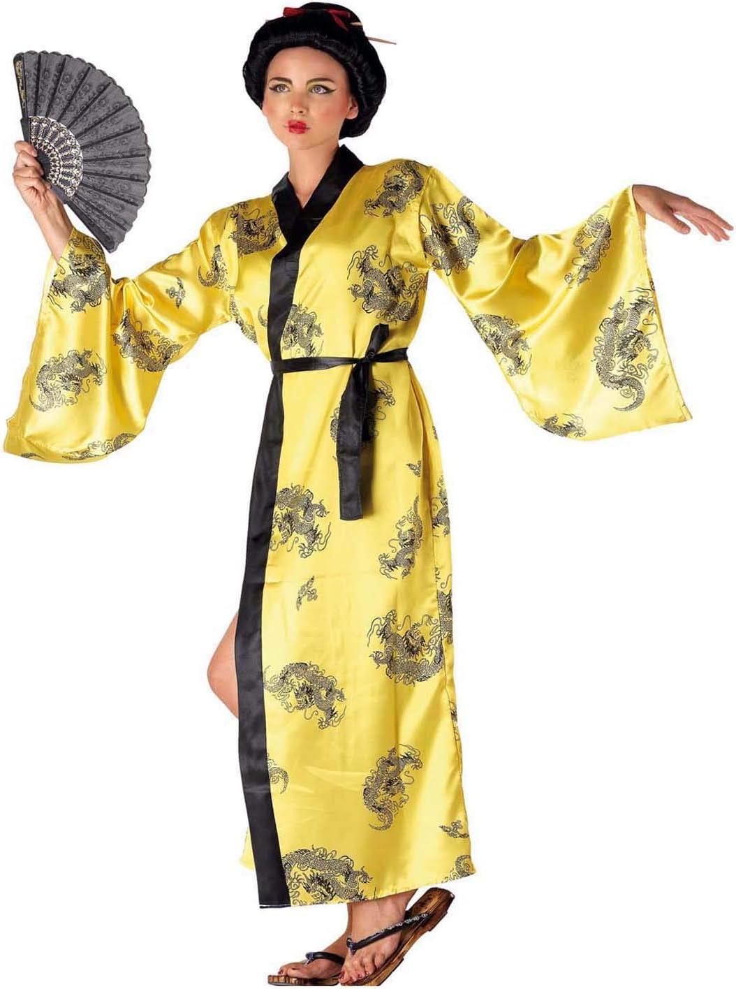 chiber Disfraces Disfraz Mujer China Amarillo: Amazon.es: Juguetes ...
