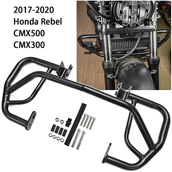 FATExpress CMX500 CMX300 Accessories Motorcycle Steel Engine Guard Bumper Crash Bar Crashbar Body Frame Falling Protection Screen Film for 2017 2018 2019 2020 Honda Rebel CMX 300 500